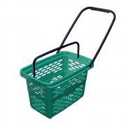 Корзина покупательская пластиковая Shols на 4-х колесах (0335-40) - фото 1